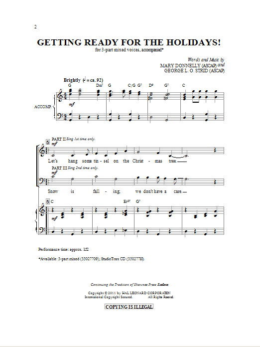 Getting Ready For The Holidays! Sheet Music