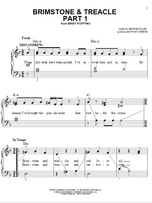 Brimstone & Treacle Part 1 Sheet Music