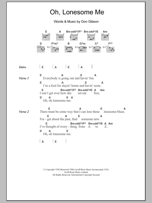 Oh, Lonesome Me by Neil Young - Guitar Chords/Lyrics - Guitar Instructor