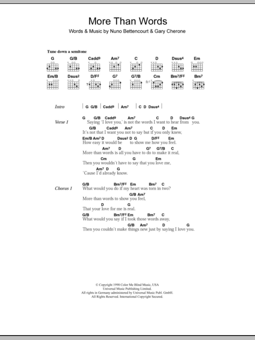 More Than Words by Westlife - Guitar Chords/Lyrics - Guitar Instructor