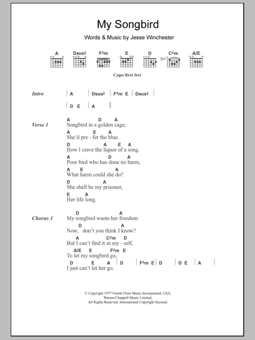 My Songbird by Emmylou Harris - Guitar Chords/Lyrics - Guitar Instructor
