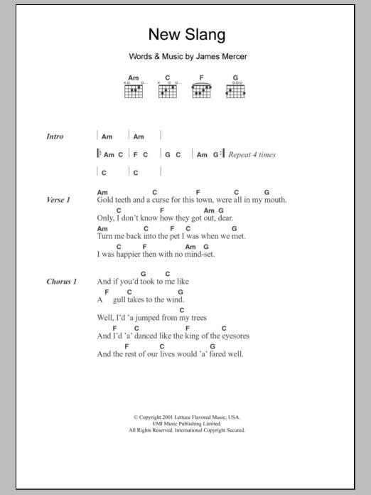 New Slang | Sheet Music Direct