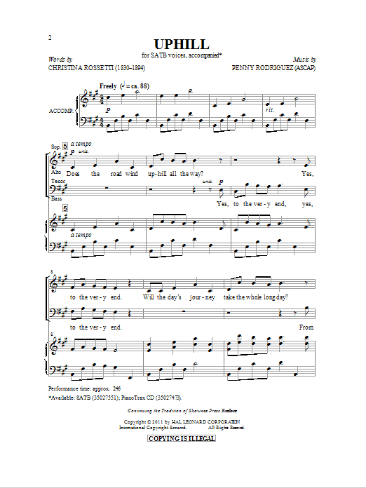 Uphill Sheet Music