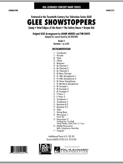 Glee Showstoppers - Full Score (Concert Band)