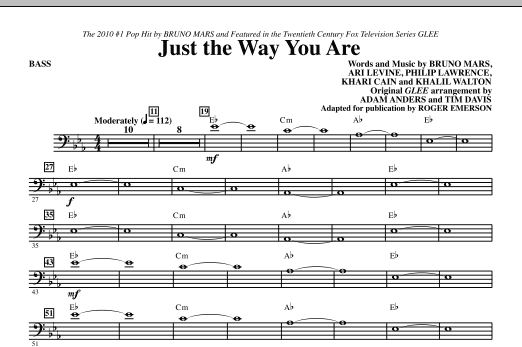 Just The Way You Are - Bass (Choir Instrumental Pak)