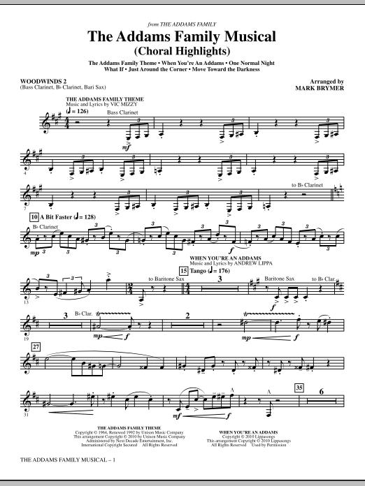 The Addams Family Musical (Choral Highlights) - Woodwind II (Choir Instrumental Pak)