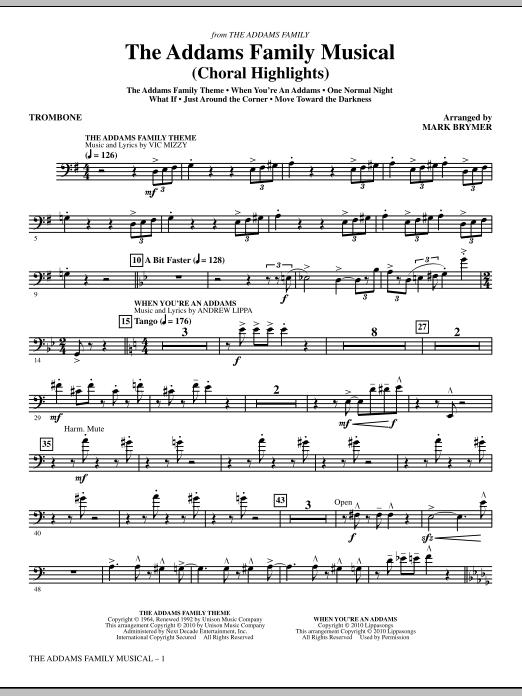 The Addams Family Musical (Choral Highlights) - Trombone (Choir Instrumental Pak)