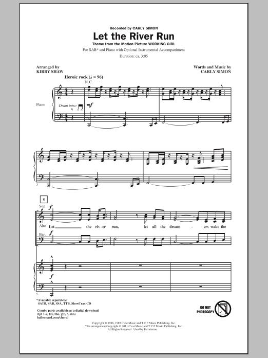 Let The River Run (SAB Choir)