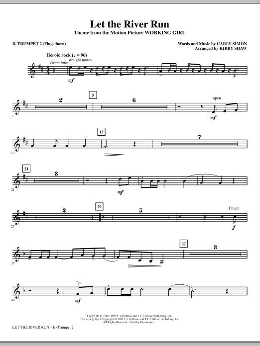 Let The River Run - Bb Trumpet 2 (Flugelhorn) (Choir Instrumental Pak)