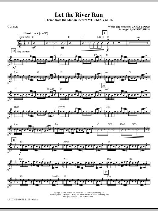 Let The River Run - Guitar (Choir Instrumental Pak)