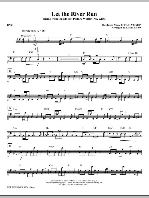 Let The River Run - Bass (Choir Instrumental Pak)