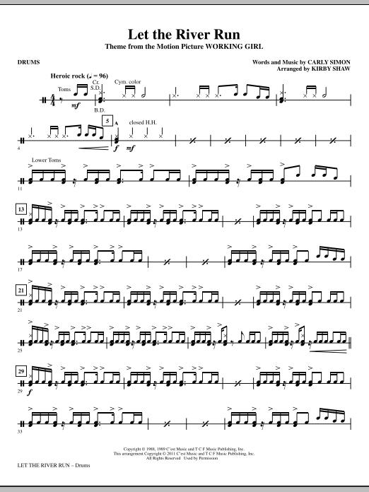 Let The River Run - Drums (Choir Instrumental Pak)