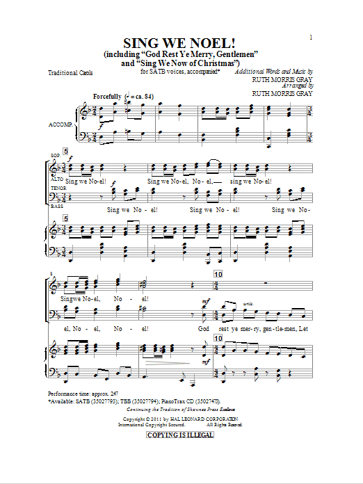 Sing We Noel (SATB Choir)