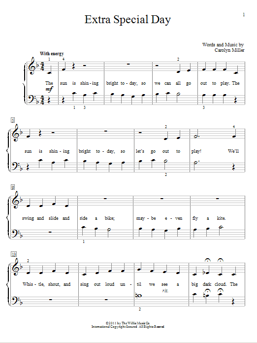 Extra Special Day Sheet Music