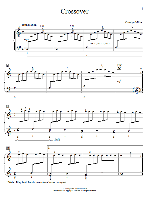 Cross Over Sheet Music