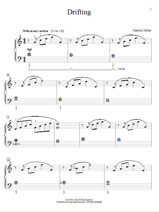 Drifting Sheet Music