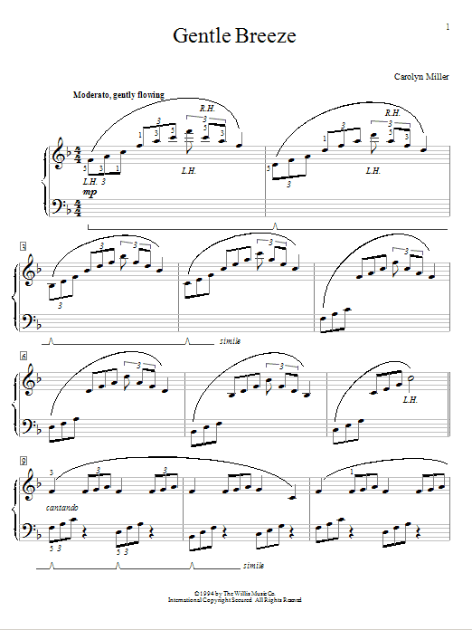 Gentle Breeze Sheet Music