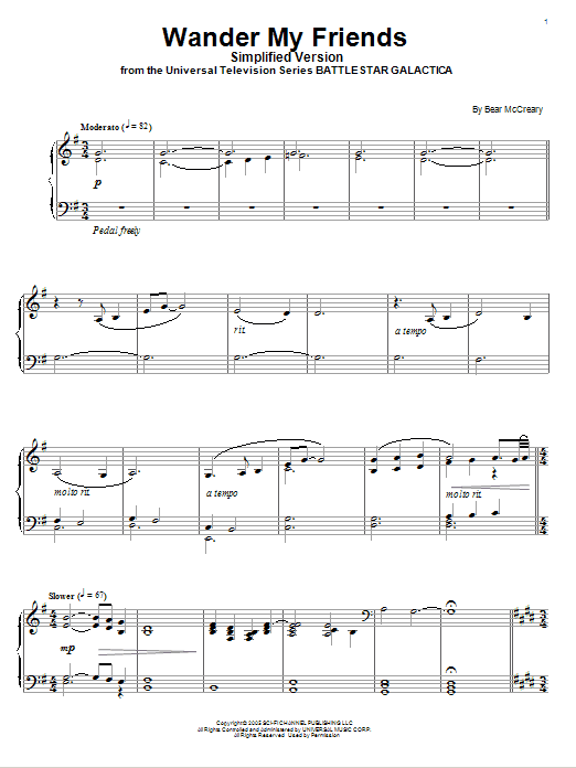 Wander My Friends (Simplified Version) Sheet Music