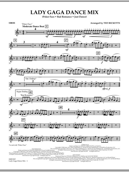 Lady Gaga Dance Mix - Oboe (Concert Band)