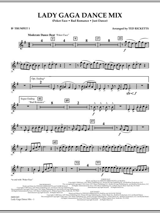 Lady Gaga Dance Mix - Bb Trumpet 1 (Concert Band)