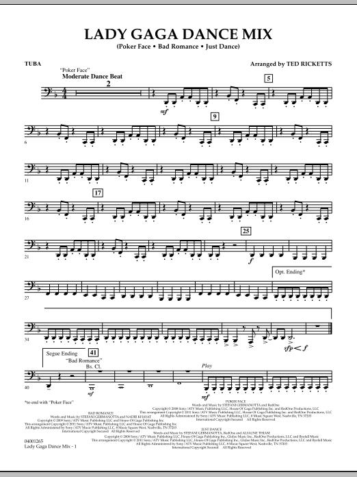 Lady Gaga Dance Mix - Tuba (Concert Band)