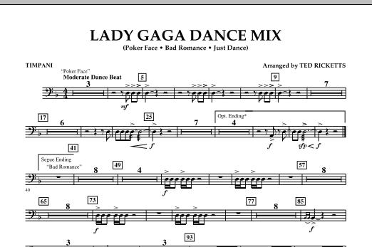 Lady Gaga Dance Mix - Timpani (Concert Band)