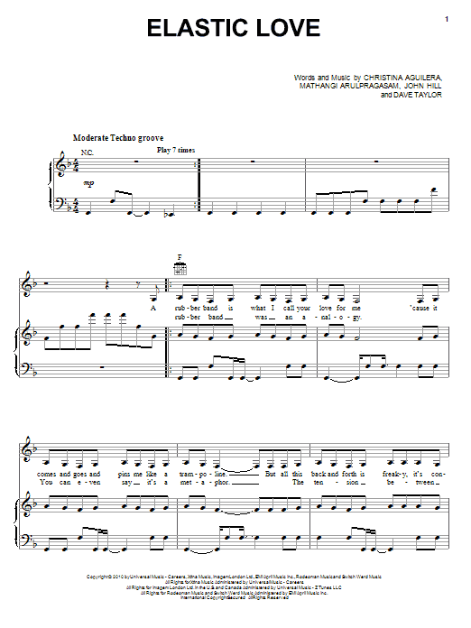 Elastic Love Sheet Music