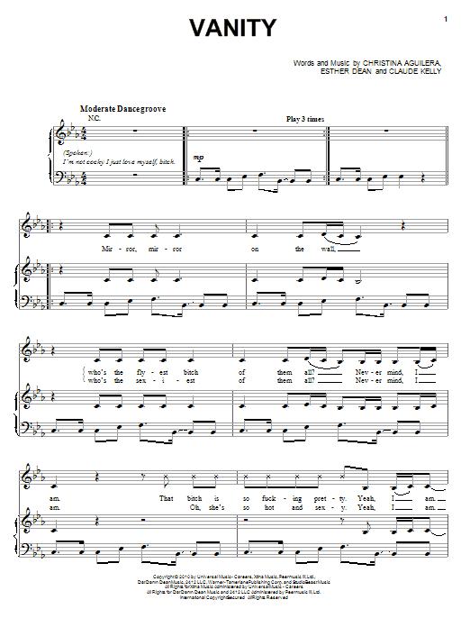 Vanity Sheet Music