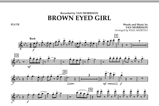 Brown Eyed Girl - Flute (Concert Band)