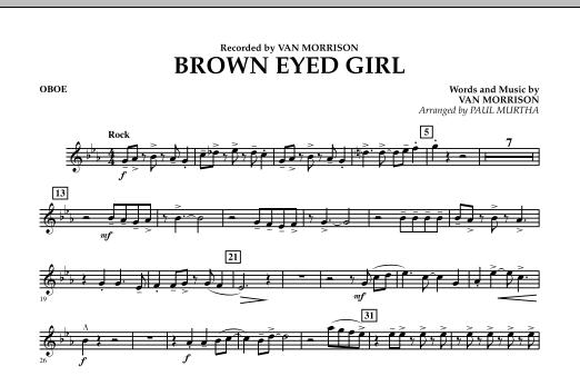 Brown Eyed Girl - Oboe (Concert Band)