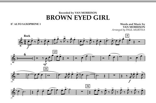 Brown Eyed Girl - Eb Alto Saxophone 1 (Concert Band)