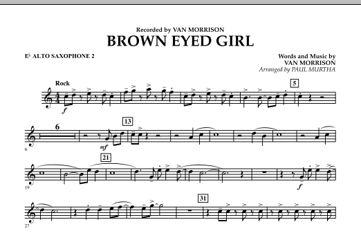 Brown Eyed Girl - Eb Alto Saxophone 2 (Concert Band)