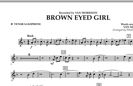 page one of Brown Eyed Girl - Bb Tenor SaxophoneASALTTEXT