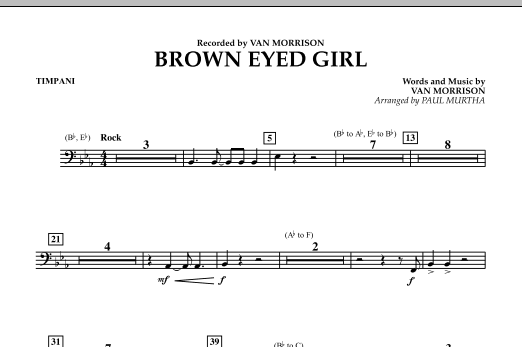 page one of Brown Eyed Girl - TimpaniASALTTEXT