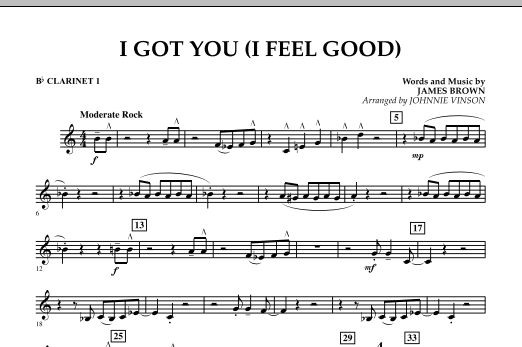 I Got You (I Feel Good) - Bb Clarinet 1 (Concert Band)