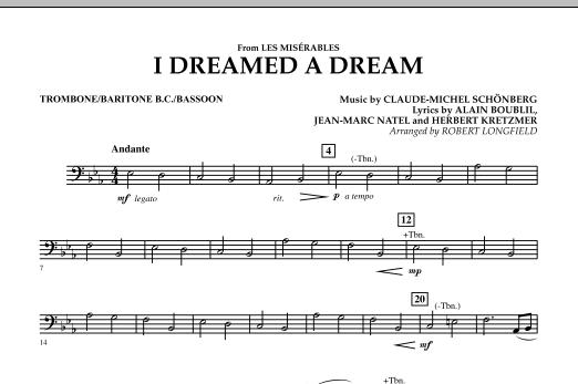 I Dreamed A Dream (from Les Miserables) - Trombone/Baritone B.C./Bassoon (Concert Band)