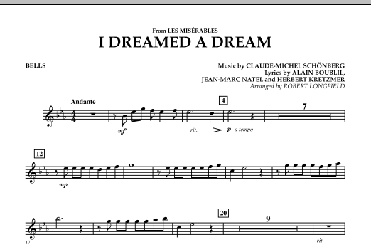 I Dreamed A Dream (from Les Miserables) - Bells (Concert Band)