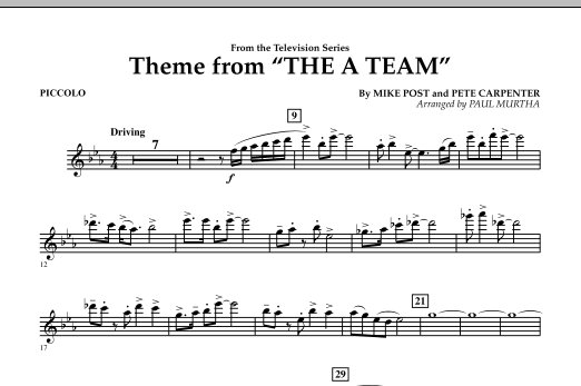 Theme from The A-Team - Piccolo (Concert Band)
