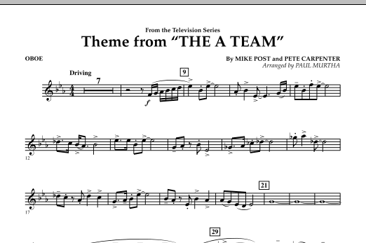 Theme from The A-Team - Oboe (Concert Band)