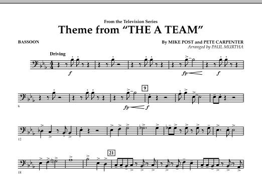 Theme from The A-Team - Bassoon (Concert Band)
