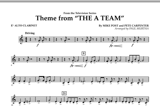 Theme from The A-Team - Eb Alto Clarinet (Concert Band)