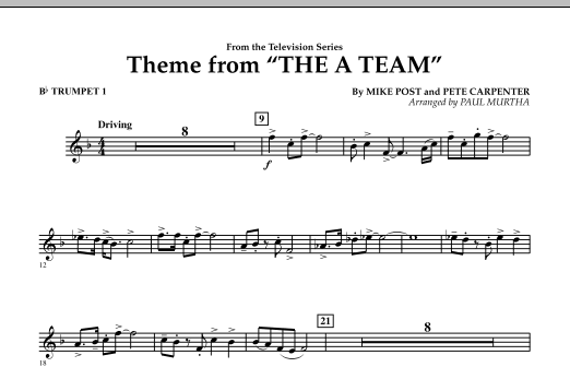Theme from The A-Team - Bb Trumpet 1 (Concert Band)