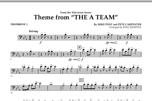 Theme from The A-Team - Trombone 1 (Concert Band)