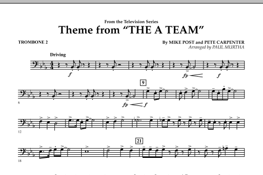 Theme from The A-Team - Trombone 2 (Concert Band)