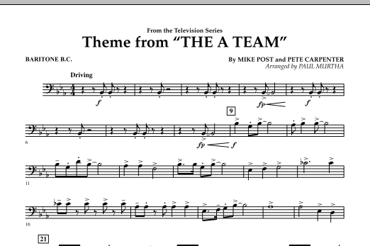 Theme from The A-Team - Baritone B.C. (Concert Band)