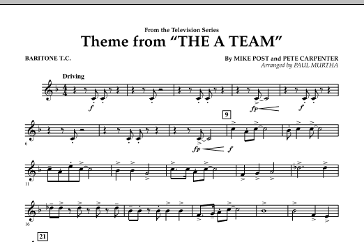 Theme from The A-Team - Baritone T.C. (Concert Band)