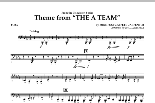 Theme from The A-Team - Tuba (Concert Band)