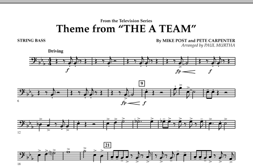 Theme from The A-Team - String Bass (Concert Band)