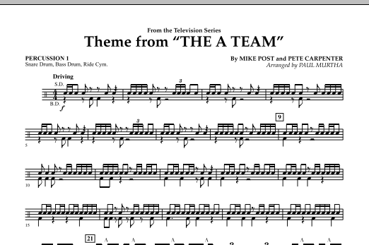 Theme from The A-Team - Percussion 1 (Concert Band)