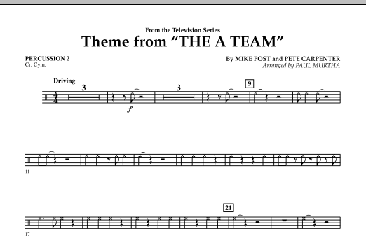 Theme from The A-Team - Percussion 2 (Concert Band)